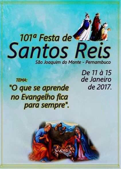 EXCLUSIVO: Programação Religiosa da Tradicional Festa de Santos Reis 2017.