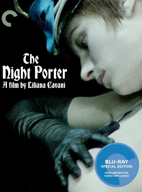 The Night Porter, Movie Poster, starring Dirk Bogarde and Charlotte Rampling, Directed by Liliana Cavani