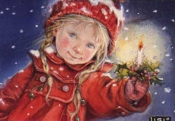 Pinzellades Al Mn Clssiques Targetes De Nadal De Lisi