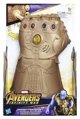 Toys : Juguetes - MARVEL Vengadores. Infinity War Guantelete Electrónico de Thanos : Infinity Gaunlet  Guante con las Gemas del Infinito  Hasbro E1799 | Película 2018 | A partir de 5 años