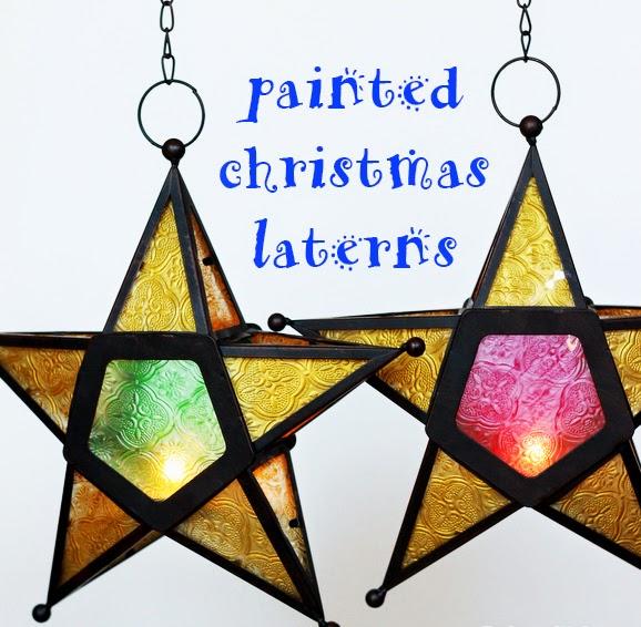 Christmas Lanterns.Christmas Lantern Painting Take Lanterns Amazon