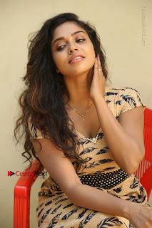 Telugu Actress Karunya Chowdary Stills in Short Dress at ATM Not Working Press Meet  0208.jpg