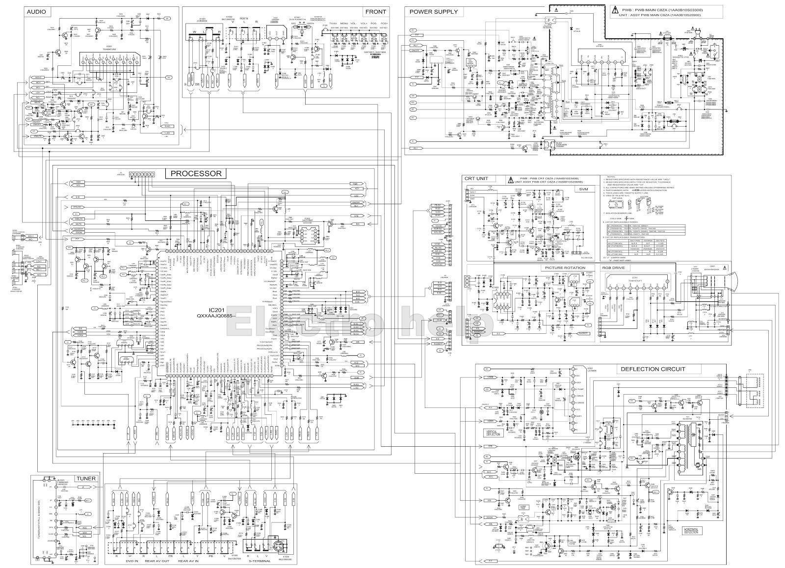 sanyo schematic diagram sanyo tv circuit diagram - wiring online schematic diagram of radio