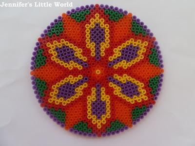Making Diwali Hama bead rangoli