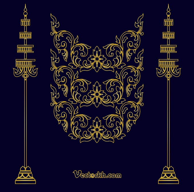 Cambodia King Poster free vector