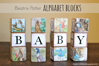Beatrix Potter alphabet blocks