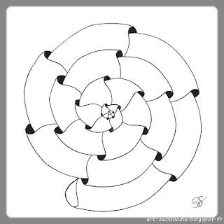 zendoodle, phicops dans une spirale