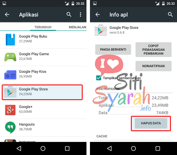 solusi authentication is required android