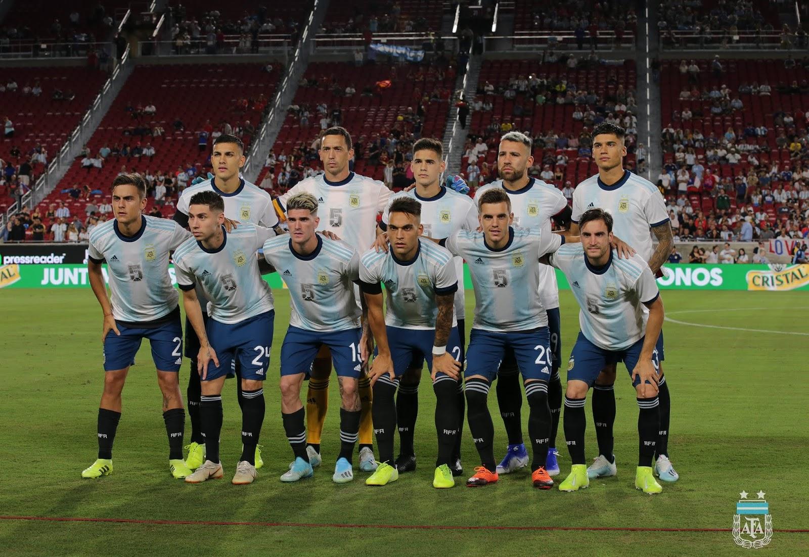 Formación de Argentina ante Chile, amistoso disputado el 5 de septiembre de 2019