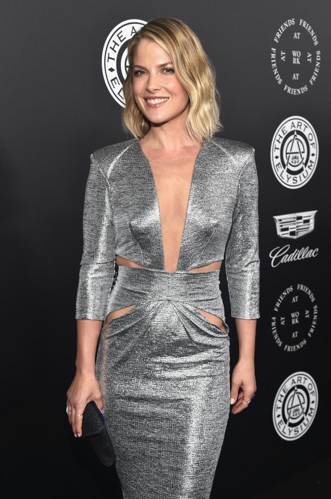 Ali Larter Wearing Silver Dress