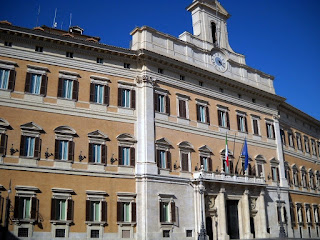 The Palazzo Montecitorio was designed by Gian Lorenzo Bernini for the nephew of Pope Gregory XV