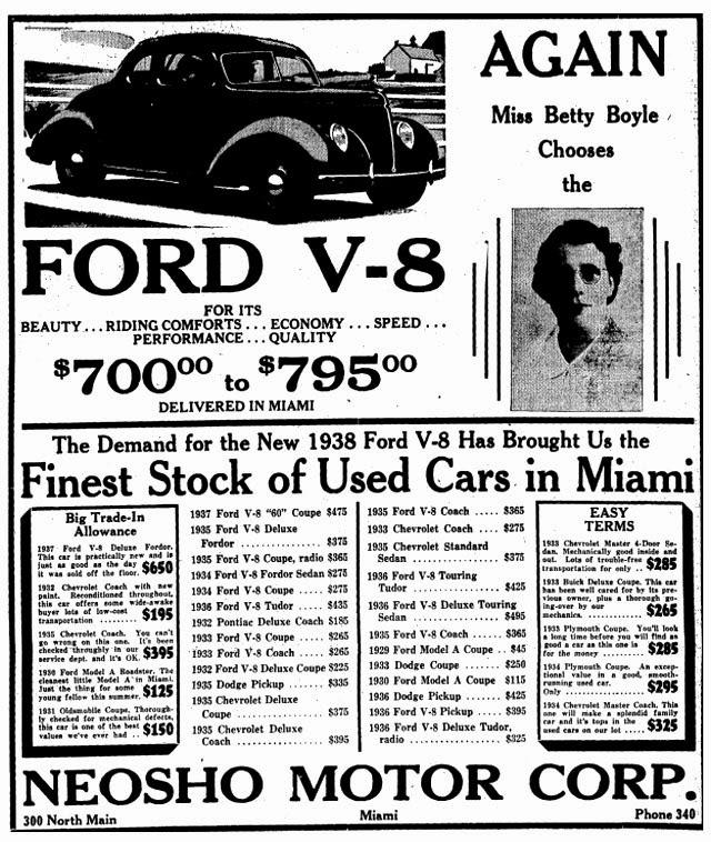 247 AUTOHOLIC: 1938 Ford V8 Ad