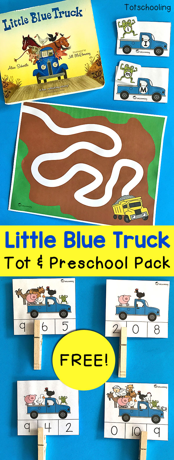 little blue truck coloring pages Little Blue Truck Activities for Toddlers and Preschoolers  little blue truck coloring pages