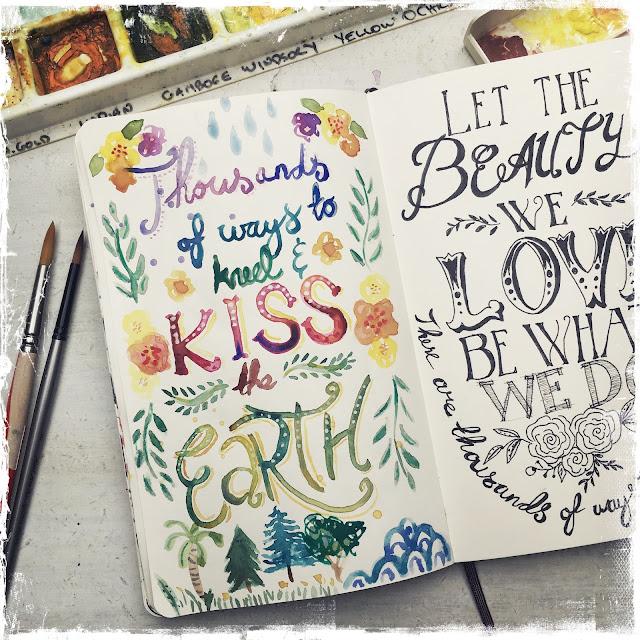 Sketchbook Challenge Galia Alena rumi quote