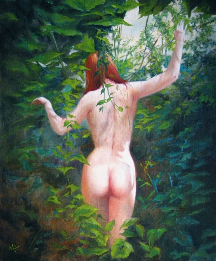 Отпечаток женственности. Французский художник. Isabel Mahe
