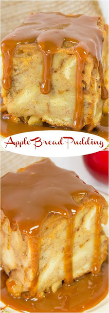 Bread Pudding is i of those sometime fashioned classic desserts RECIPES APPLE BREAD PUDDING