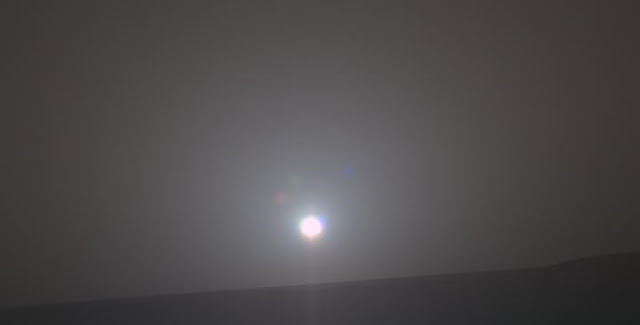 An image of the 5,000th sunrise captured by the Mars rover, Opportunity. Credit: NASA