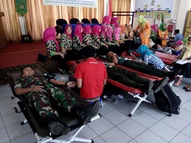 Peringati Hari Juang Kartika Ke 72, Kodim 0615/Kuningan Gelar Kegiatan Donor Darah