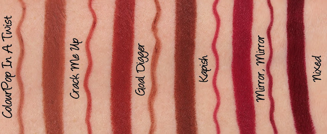 ColourPop In A Twist Set Swatches & Review