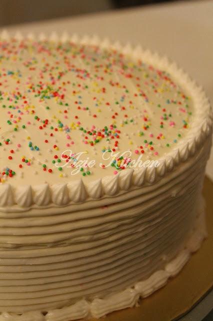 Rainbow Cake Sedap Azie Kitchen