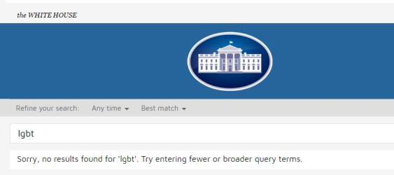 Fulfilling his campaign promise? LGBT rights page erased from WhiteHouse website shortly after Trump assumes office