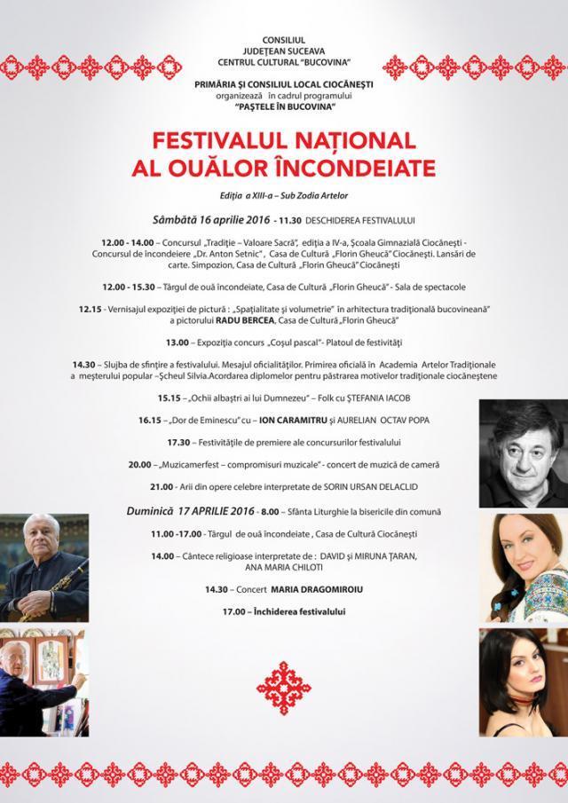 Personalități de prestigiu la Festivalul Naţional al Ouălor Încondeiate de la Ciocăneşti