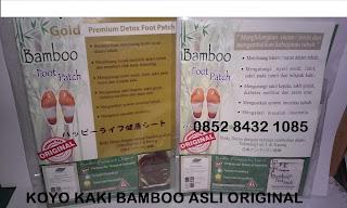 Koyo kaki bambo foot patch asli original detoks buang racun tubuh