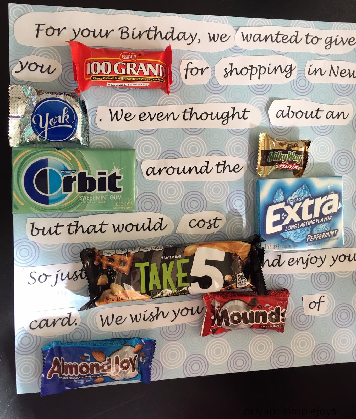 SimpleJoys: Candy Birthday Card