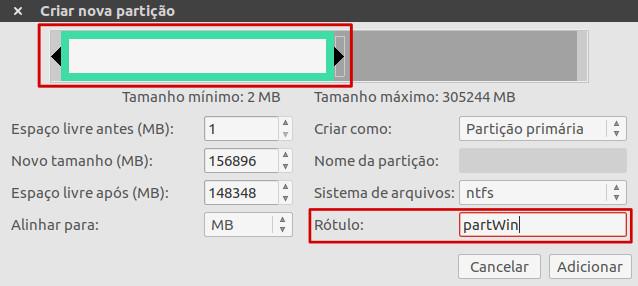 particao windows ntfs no ubuntu linux