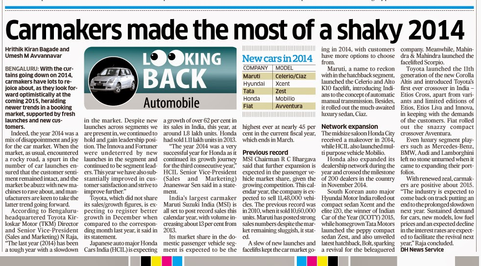 13bb788ff82b62 Carmakers made the most of a shaky 2014