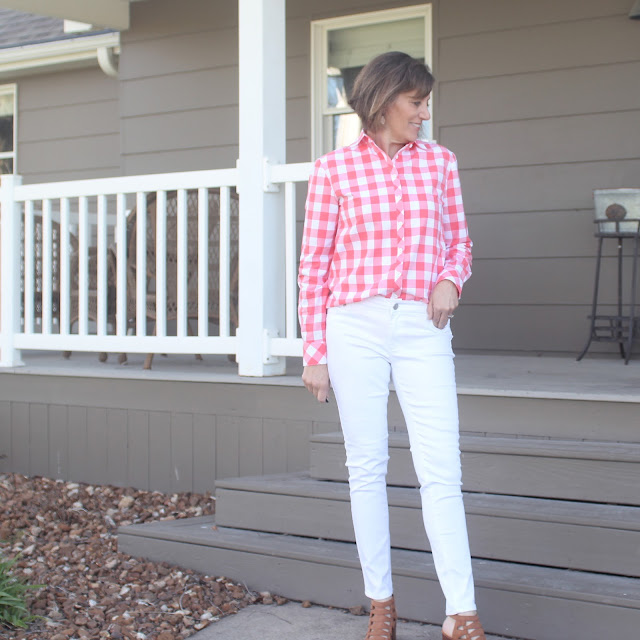 Grainline Archer Shirt in Style Maker Fabrics' gingham