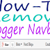 How To Add / Remove Blogger Navigation Bar