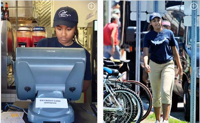 Gambar Anak Bongsu Obama Bekerja Sambilan di Kaunter Restoran Seafood Untuk Habiskan Cuti Sekolah Jadi Viral