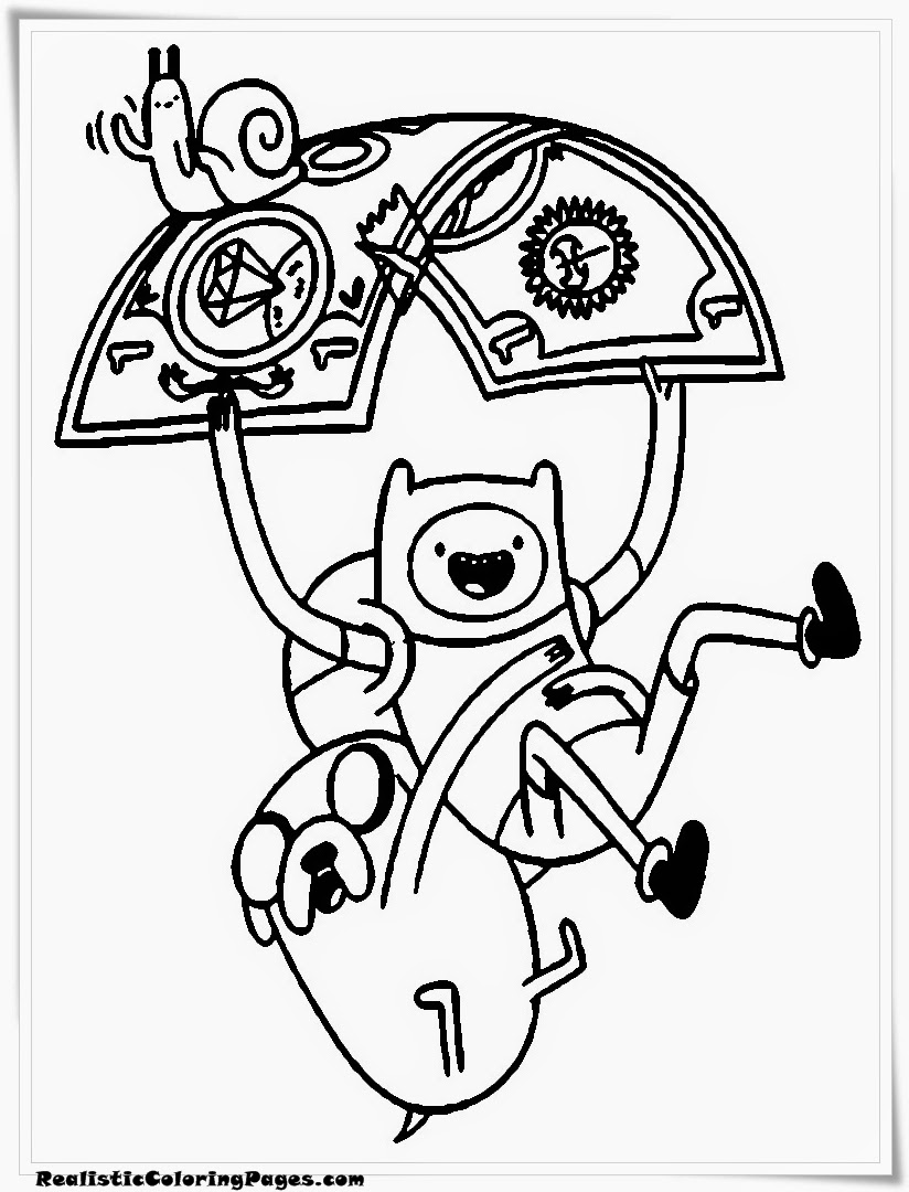 Adventure Time Cartoon Coloring Pages