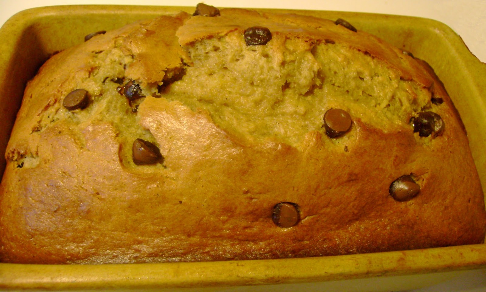 remove banana bread from oven