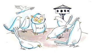 la lechuza y las palomas fabula