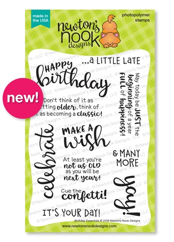| Birthday Essentials Stamp Set by Newton's Nook Designs #newtonsnook #handmade
