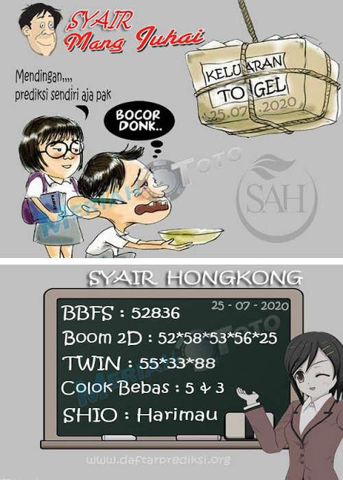 Kode syair Hongkong Sabtu 25 Juli 2020 271