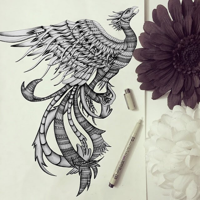 05-Phoenix-Faye-Halliday-Animals-with-Zentangle-Detailing-www-designstack-co
