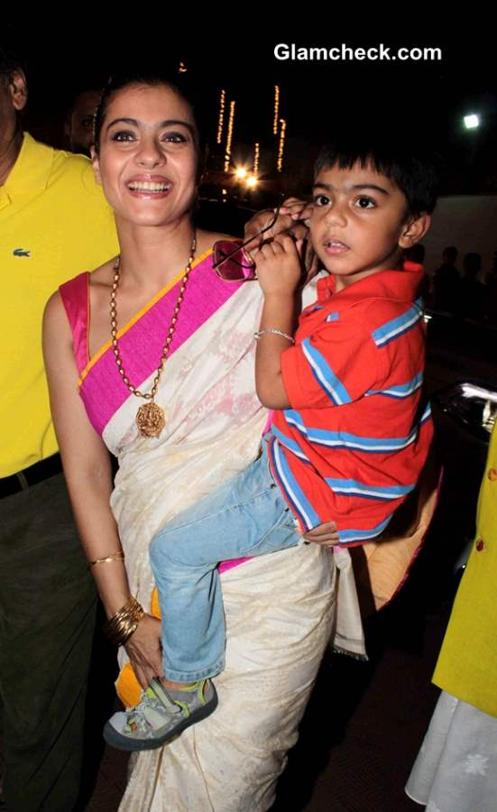 Kajol with her Son