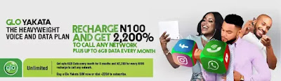 Glo Yakata Heavyweight Voice and 6gb Data Plan