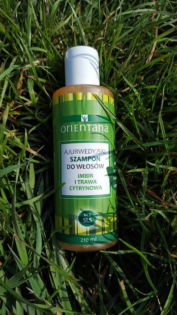 Ajurwedyjski szampon do włosów imbir i trawa cytrynowa-Orientana