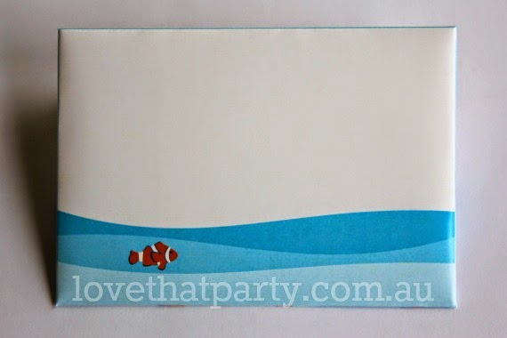 Printable Under the Sea Party Envelope by Love That Party. www.lovethatparty.com.au