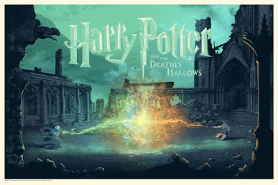 Harry Potter and the Deathly Hallows Standard Edition Screen Print by Stan & Vince x Dark Hall Mansion