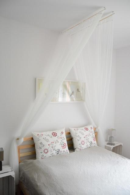 baldachim nad łóżko DIY