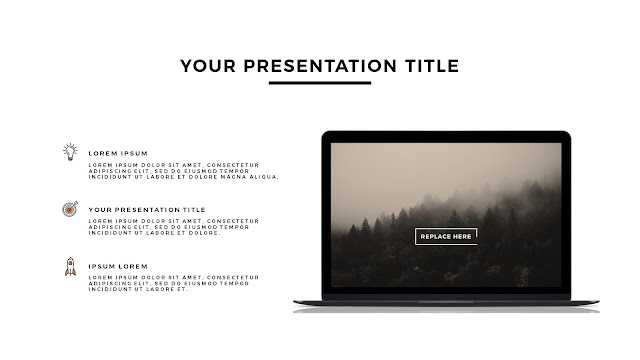 MacBook Space Grey Mockup Free Powerpoint Template Slide 1