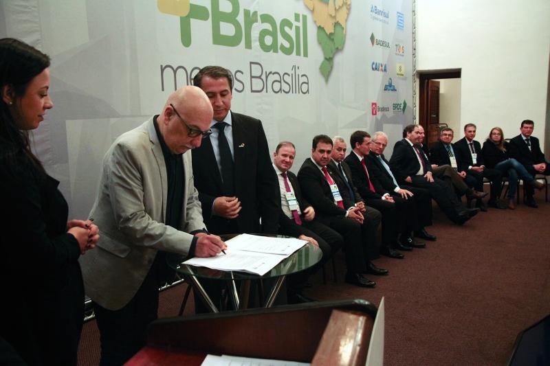 O lançamento do edital ocorreu na abertura do 37º Congresso de Municípios do Rio Grande do Sul, promovido pela Famurs - Foto: Divulgação/Sedactel