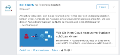 Sponsored Content auf LinkedIn.
