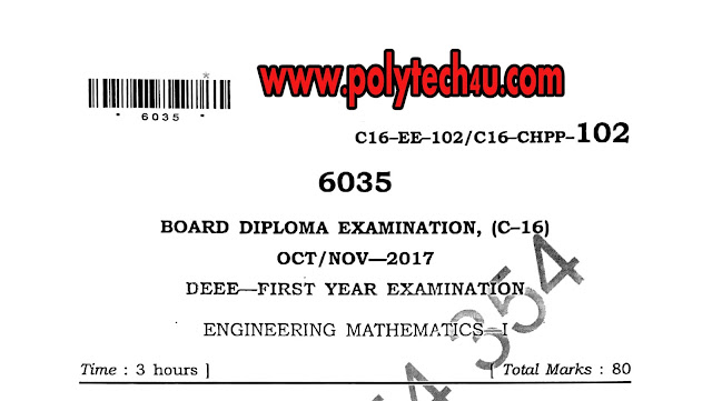 MATHS-1 PREVIOUS QUESTION PAPER PDF