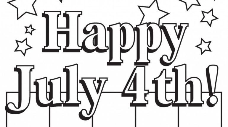 July 4 Coloring Pictures : Happy 4th of july coloring pages 2017 printable